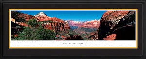 Zion National Park Deluxe Framed Skyline Picture 1