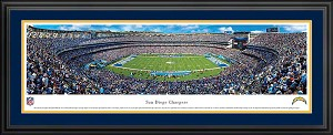 San Diego Chargers Deluxe Framed Picture
