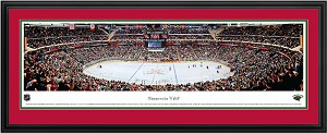 Minnesota Wild Xcel Energy Center Deluxe Framed Picture