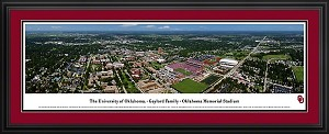 University of Oklahoma Oklahoma Memorial Stadium Deluxe Framed Picture 3