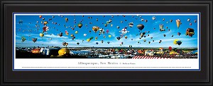 Albuquerque, New Mexico Deluxe Framed Skyline Picture