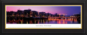 Amsterdam, Netherlands Deluxe Framed Skyline Picture 2