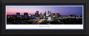 Atlanta, Georgia Deluxe Framed Skyline Picture 4