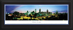 Atlanta, Georgia Deluxe Framed Skyline Picture 6