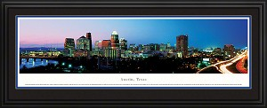 Austin, Texas Deluxe Framed Skyline Picture 2