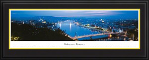 Budapest, Hungary Deluxe Framed Skyline Picture