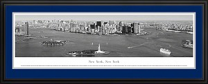 New York, New York Black and White Deluxe Framed Skyline Picture 9