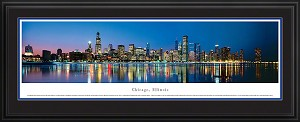 Chicago, Illinois Deluxe Framed Skyline Picture 9