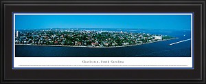 Charleston, South Carolina Deluxe Framed Skyline Picture