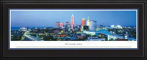 Cleveland, Ohio Deluxe Framed Skyline Picture 1