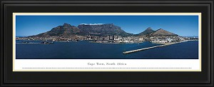 Cape Town, South Africa Deluxe Framed Skyline Picture