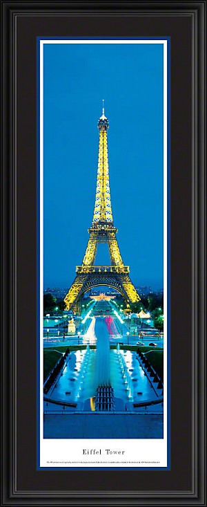 Eiffel Tower  Paris, France Deluxe Framed Skyline Picture 2