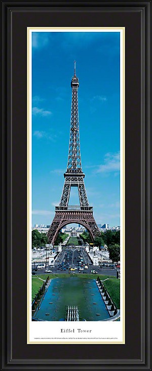 Eiffel Tower, Paris, France Deluxe Framed Skyline Picture 3