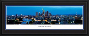 Frankfurt, Germany Deluxe Framed Skyline Picture