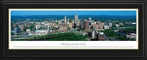 Hartford, Connecticut Deluxe Framed Skyline Picture