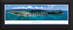 Honolulu, Hawaii Deluxe Framed Skyline Picture