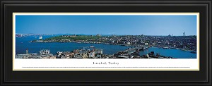 Istanbul, Turkey Deluxe Framed Skyline Picture