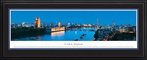 London, England Deluxe Framed Skyline Picture 5