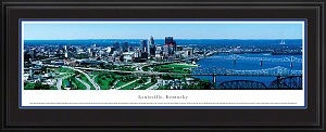 Louisville, Kentucky Deluxe Framed Skyline Picture 1