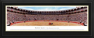 Madrid, Spain, Plaza Monumental de las Ventas Deluxe Framed Skyline Picture