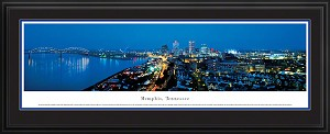 Memphis, Tennessee Deluxe Framed Skyline Picture 2
