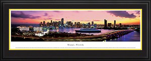 Miami, Florida Deluxe Framed Skyline Picture