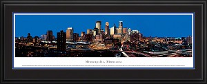Minneapolis, Minnesota Deluxe Framed Skyline Picture 4