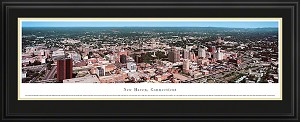 New Haven, Connecticut Deluxe Framed Skyline Picture