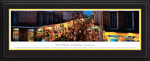 New Orleans, Louisiana  Bourbon Street Deluxe Framed Skyline Picture