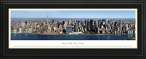 New York, New York Deluxe Framed Skyline Picture 14