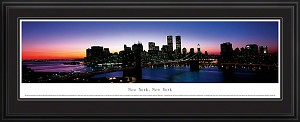 New York, New York Deluxe Framed Skyline Picture 3