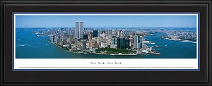 New York, New York Deluxe Framed Skyline Picture 6