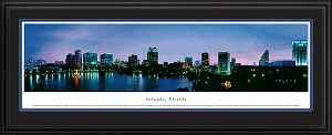 Orlando, Florida Deluxe Framed Skyline Picture