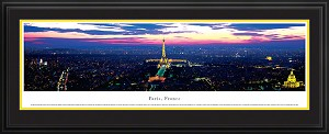 Paris, France Deluxe Framed Skyline Picture 1