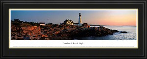 Portland Head Lighthouse, Oregon Deluxe Framed Skyline Picture