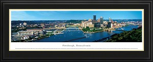 Pittsburgh, Pennsylvania Deluxe Framed Skyline Picture 2