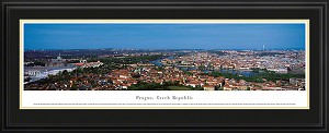 Prague, Czech Republic Deluxe Framed Skyline Picture