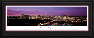 Richmond, Virginia Deluxe Framed Skyline Picture