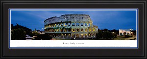 Rome, Italy  Roman Coliseum Deluxe Framed Skyline Picture