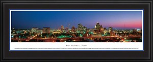 San Antonio, Texas Deluxe Framed Skyline Picture