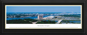 Savannah, Georgia Deluxe Framed Skyline Picture