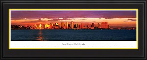 San Diego, California Deluxe Framed Skyline Picture 4