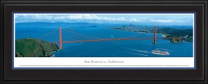 San Francisco, California Golden Gate Bridge Deluxe Framed Skyline Picture 3