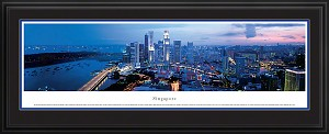 Singapore Deluxe Framed Skyline Picture 1