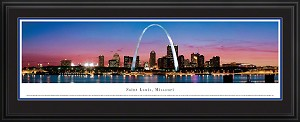 St. Louis, Missouri Deluxe Framed Skyline Picture 3