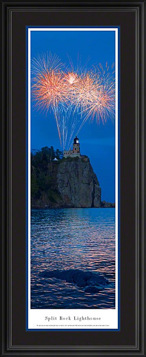 Split Rock Lighthouse Deluxe Framed Skyline Picture 2