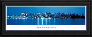 Vancouver, Canada Deluxe Framed Skyline Picture 1