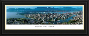 Vancouver, Canada Deluxe Framed Skyline Picture 4
