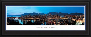 Vancouver, Canada Deluxe Framed Skyline Picture 5