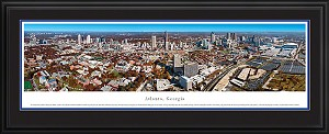 Atlanta, Georgia Deluxe Framed Skyline Picture 7